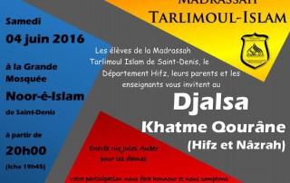 Djalsa Tarlimoul Islam 4 juin 2016