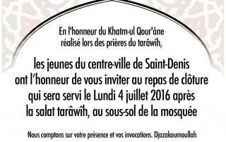 Affiche Repas Khatm-ul Qouran